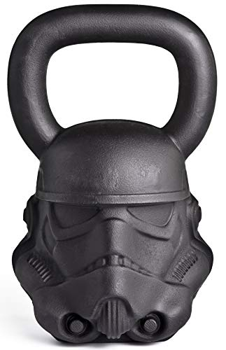 ONNIT Designer Sculpted Kettlebells - Perfectly Balanced, Built with Chip Resistant Iron (Stormtrooper (60lb))