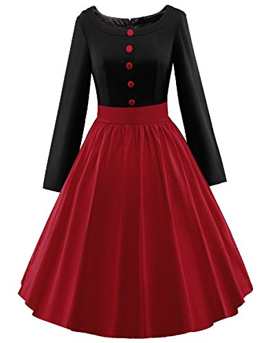 Vintage loves retro plus size polka dot dress 1940 dresses for sale BLACKRED XL (Dress Sales Australia)