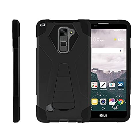 TurtleArmor   LG Stylus 2 Case   LG G Stylo 2 Case   Stylo 2 V [Dynamic Shell] Hybrid Dual Layer Hard Shell Kickstand Silicone Case - (Lg Dynamic 2 Phone Case Camo)