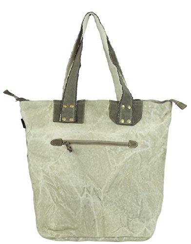 beige para Sunsa Taschen tela mujer Bolso beige Vintage de WxSfWUw