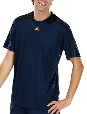 Adidas - Camiseta de running para hombre, tamaño XXL, color collegiate azul marino