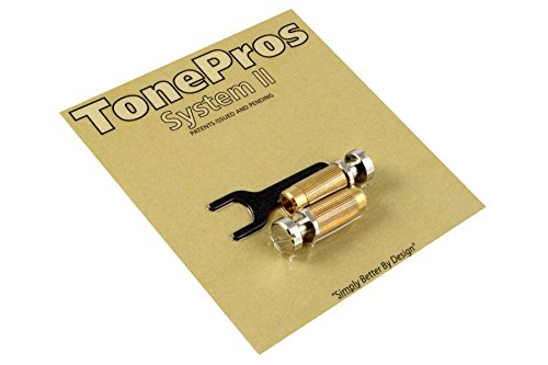 TonePros SNS1-N Studs/Anchors(2) Stop Tailpiece Nickel Allparts TP-0456-001