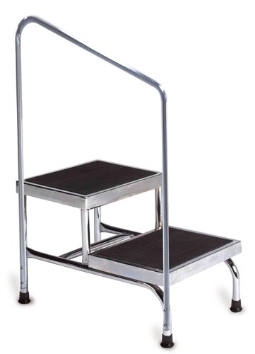 Step Stools - Two-Steps, Heavy Duty, With Handrail
