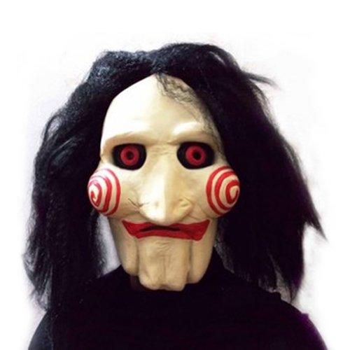 SHEENROAD Saw Movie Jigsaw Puppet Mask (Jig Saw Costume)