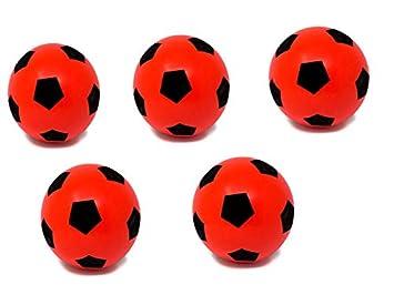 E-Deals balón de fútbol de Espuma Suave - Paquetes, 20cm - 5 Red ...