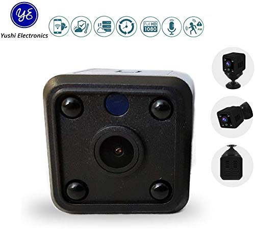 Mini Spy Camera HD IP Wireless Hidden Security WiFi Battery Video Audio Surveillance Watch Home Bedroom Kids Baby Pet Nanny | Gadget Recorder | Remote Internet View by Phone App Recording Device Sd