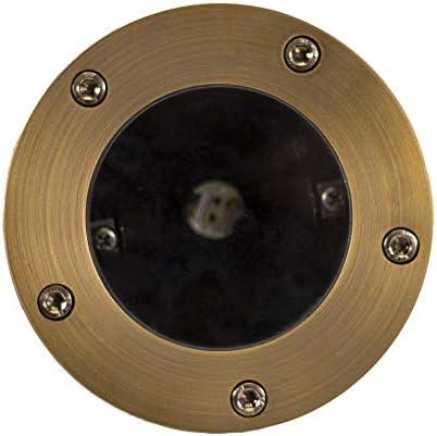 Lumen Logic 12V Brass In-Ground Light Open Top with LED Bulb