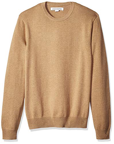 Amazon Essentials Men's Crewneck Sweater, Camel Heather, Large