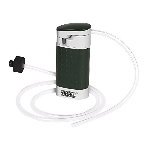 aokur Portable Water Filter Pump 99.9999% Removes Bacteria, Outdoor Water Purifier Pump with Ceramic Membranes Cartridge for Emergency or Camping Survival Gear, Matte Army Green (Water Purification Membrane)