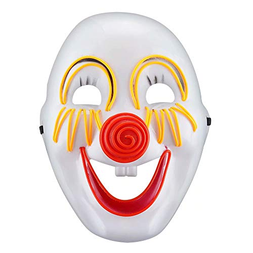 The Purge Smile Mask (U LOOK UGLY TODAY LED Light Up Mask Full Face for Halloween Party Smile)