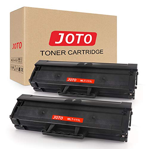 (JOTO Compatible Toner Cartridge Replacement for Samsung MLT-D111L MLT-D111S 111L 111S for Samsung Xpress SL-M2020W SL-M2070W SL-M2070FW SL-M2020 (Black, 2 Pack, High Yield Up to 1,500))