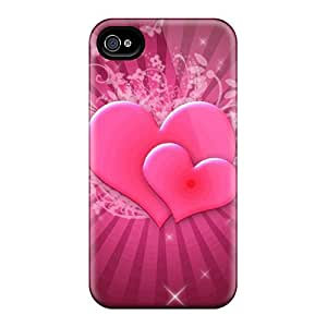 Fashion GCwtfOj6083oUkFT Case Cover For Iphone 4/4s(pink Hearts)