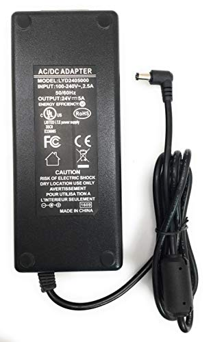 WiFi-Texas UL/CE/FCC Certified DC Power Supply | 24, 48 and 56 Volt DC for Power Over Ethernet Applications (24 Volt 5 Amp 120 Watt)