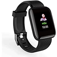D13 Smart Bracelet Watch With Heart Rate Blood Pressure Pedometer Measurement & Call/SMS Reminder (Black)
