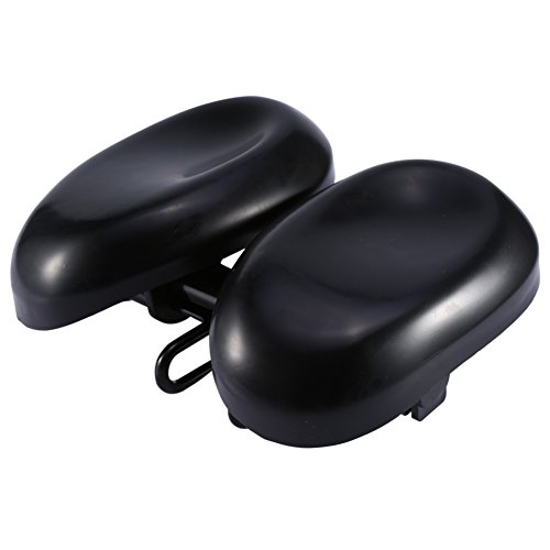 T-best Adjustable Dual-Pad Saddle,Comfortable PU MTB Bike Cycling Bicycle Cushion Seat Ergonomic Saddles Cover Pad