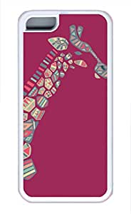 Brian114 iPhone 5C Case - Cute Animals Giraffe 20 Soft Rubber White iPhone 5C Cover, iPhone 5C Cases, Cute iPhone 5c Case