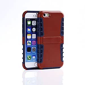 iPhone 6/6s Case, WaKase® [ Shield II ] Glamorous Red & Midnight Blue, Stand Feature, Dual Layer Hybrid Anti-slip Protective Case, Impact Resistant, Carrying Case for Apple iPhone 6/6s 4.7 inch