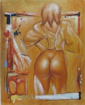 Sexy naked mocha girl horny teasing stripping