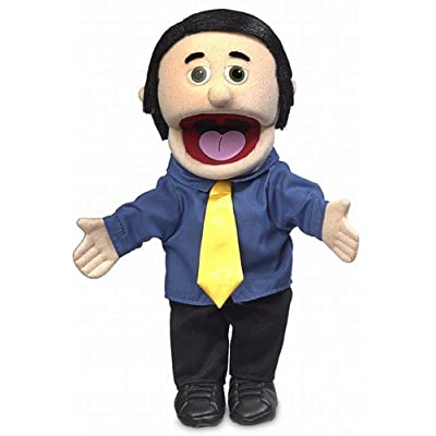 "14"" George, Peach Dad / Businessman, Hand Puppet"