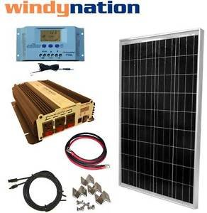 Best Cheap Deal for COMPLETE KIT 100 W Watt 100W Solar Panel + 1500W Inverter 12V RV Boat Off Grid by Genric - Free 2 Day Shipping Available