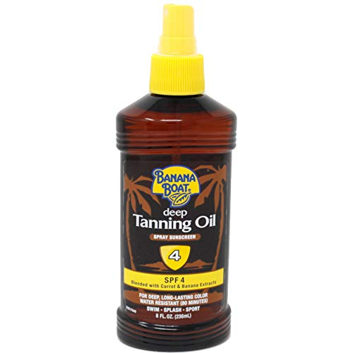 - Banana Boat Deep Tanning Spray SPF 4, 8 Ounces (Value Pack of 2)
