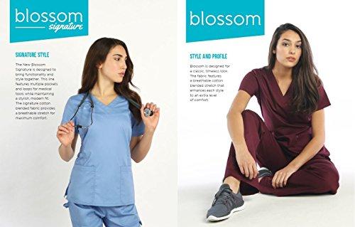 Maevn Blossom 3 Pocket V-Neck Scrub Top & Utility Pocket Cargo Scrub Pant Set by Maevn (Image #2)