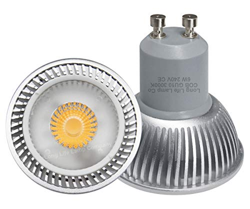 10 X 6W GU10 LED COB LED Super Bright Warm White Colour 50w Replacement for Halogen Bulb Fitted with New Chip Technology