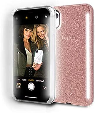 LuMee Duo Phone Case Bumper Case iPhone XR Only Front /& Back LED Lighting Shock Absorption Variable Dimmer Selfie Phone Case Silver Mirror
