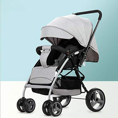 Pushchair Stroller Combi Stroller Buggy Baby Jogger Buggy Kid's Stroller 2 in 1 Pushchair Travel System with Stroller, Gray