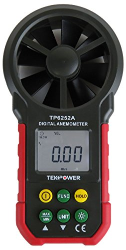 Tekpower TP6252A Digital Anemometer Wind Speed Air Velocity Meter, Air Flow Meter, MS6252A,HYELEC 6252A