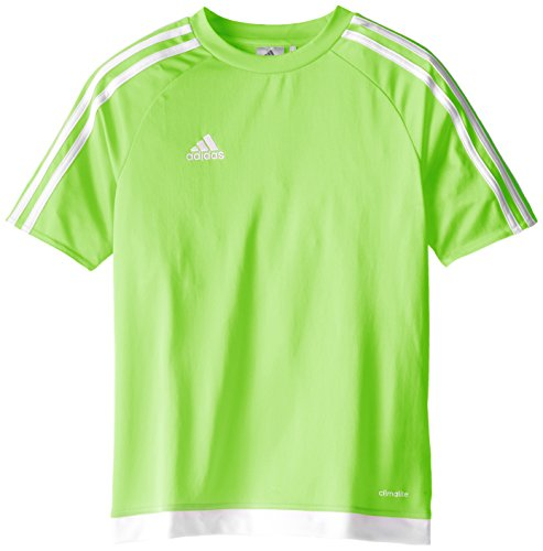 - adidas Estro 15 Jersey (Little Big Kids), Solar Green/White, Large