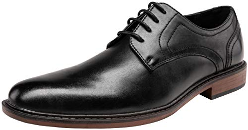 JOUSEN Men's Dress Shoes Plain Toe Oxford Business Formal Shoes (10,Black)