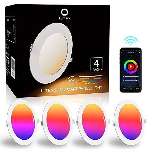 Downlight Led Techo Inteligente Ultrafina 6W 480LM, Lumary LED Empotrable Techo con Caja de Conexiones Controlada por…