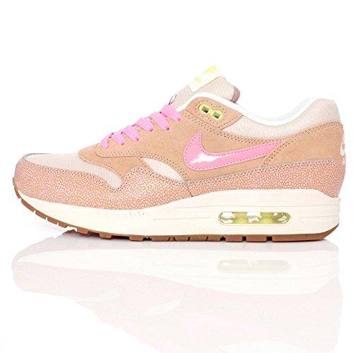 Nike Air Max 1 camoscio Dusted argilla da allenamento, in tessuto a rete, colore: rosa