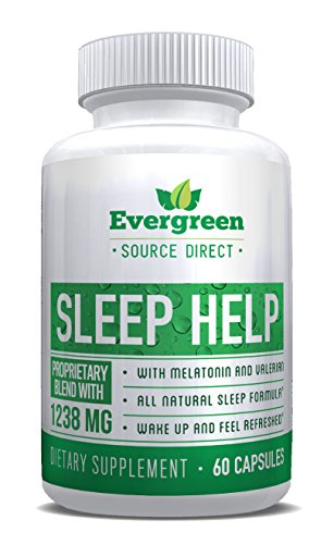 Sleep Help by Evergreen Source Direct: Natural Non-Habit Forming Sleep Aid. Promotes Energy & Alertness, Helps you fight Insomnia & Sleep Deprivation while promoting balanced Sleep Cycle.