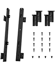 FRMSAET Heavy Duty 305/355/405/455 mm Dikte Staalconstructie Kogellager Toetsenbordgeleiders Toetsenbordladegeleiders Ladeaccessoires Kast Meubelbeslag Rails (455 mm, zwart)
