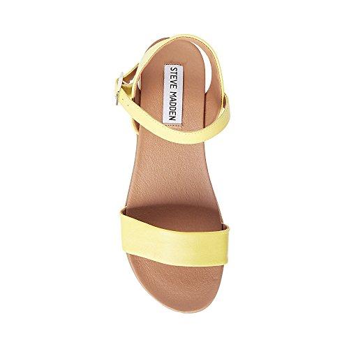 Steve Madden Women Dina Flat Sandal Yellow