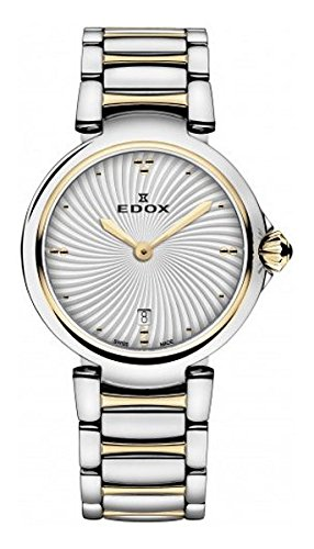 Edox-Womens-57002-357RM-AIR-LaPassion-Analog-Display-Swiss-Quartz-Two-Tone-Watch