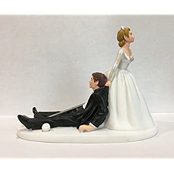 golf ball wedding cake topper and groom golf wedding cake topper 14842