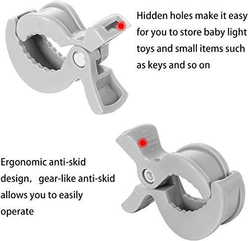 Blanket Clamp Stroller Hooks /& Buggy Clip Set 6 Clips Clasps Blankets Toys Nursing Cover Pram Toy Holder 2 Black+2 Grey+2 White