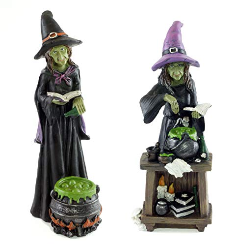 Halloween Witch Potions (Special T Imports Wicked Witches Brewing Potions Halloween Figurines - Set of)