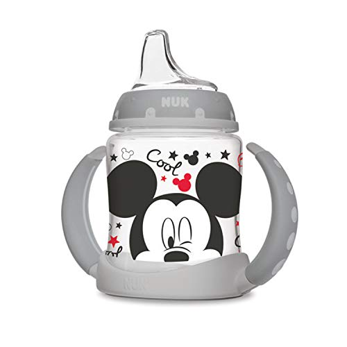 NUK Disney Learner Sippy Cup, Mickey Mouse, 5oz 1pk (Best Sippy Cup For 14 Month Old)