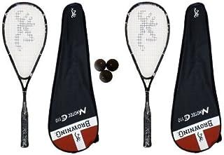 Browning Nanotec Ti 2 x 110 Raquette de Squash-Lot de balles de Squash Dunlop
