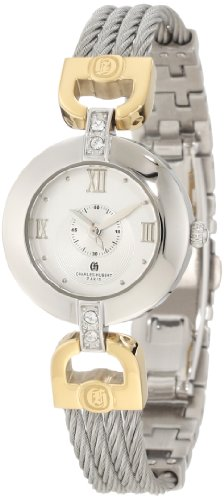 - Charles-Hubert, Paris Women's 6809-T Premium Collection Two-Tone Stainless Steel Wire Bangle Watch