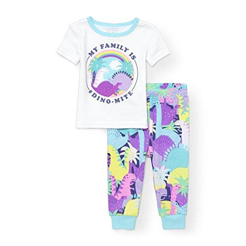 Big Baby Girls Top and Bottom Pajama Sets, Blue 96451, 2T ()