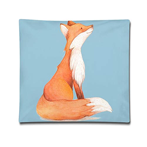 Kjaoi 1818 Inches Pillow Case Fox Painting Comfortable Soft Bed Pillow Case Household Pillow Case Office Bolster]()
