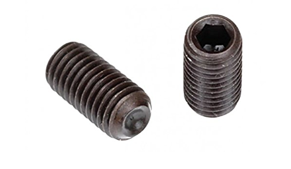 "#10-24 x 1//8/"" Coarse Thread Socket Set Screw Flat Pt Black Oxide"