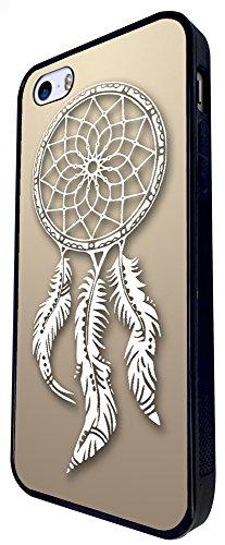 298 - Shabby Chic Eastern Art Lucky Charm Dream Catcher Design iphone SE - 2016 Coque Fashion Trend Case Coque Protection Cover plastique et métal - Noir