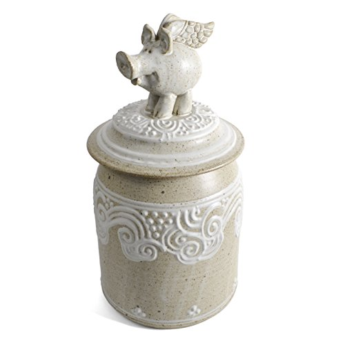The Potters, LTD Flying Pig Cookie Jar, Stony by The Potters, LTD