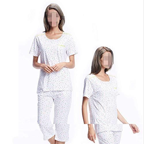Estate Sezione Maniche A Pigiama l Corte Sottile Home Service Fresco Vestito Donne Di Sciolto Cotone Donna Bq7w7gd